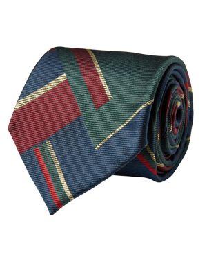 Patchwork Striped Silk...