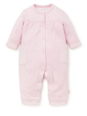 Baby Girl's Dotted Coverall...