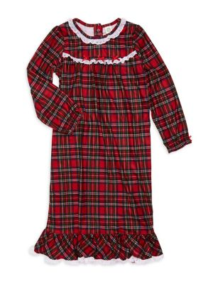 Girl's Plaid Nightgown...