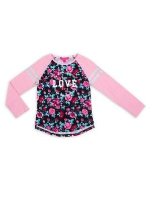 Girl's Love Floral Knit...