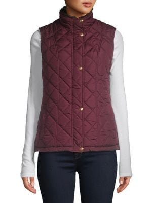 Quilted Button Front...