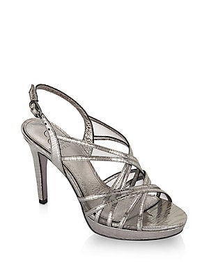 02d717100235 Adrianna Papell - Adri Strappy Metallic Strappy Sandals
