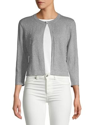Faux Pearl-Embellished...