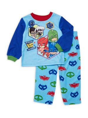 Little Boys TwoPiece Mask Pajama Set