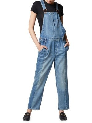 King Two-Tone Denim Overalls...