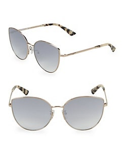 1f441abdf08447 QUICK VIEW. Mcq By Alexander Mcqueen. 63.5MM Tortoise Cat Eye Sunglasses