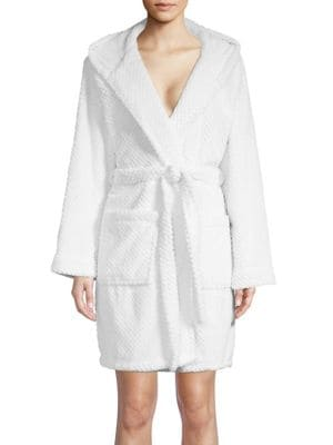 Textured Hooded Robe...