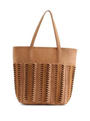 Linnly Textured Leather Tote 500088655437