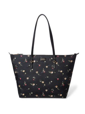 Floral Oxford Tote @...