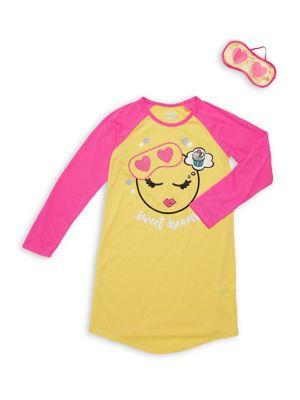 Girl's Two-Piece Emoji...