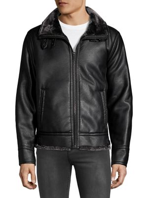 23f6baf69da5 Karl Lagerfeld - Faux Fur-Lined Jacket