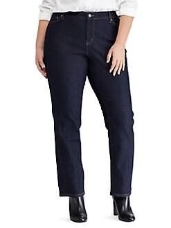 abbbcd979d3 Plus Premier Straight Jeans DARK RINSE. QUICK VIEW. Product image. QUICK  VIEW. Lauren Ralph Lauren