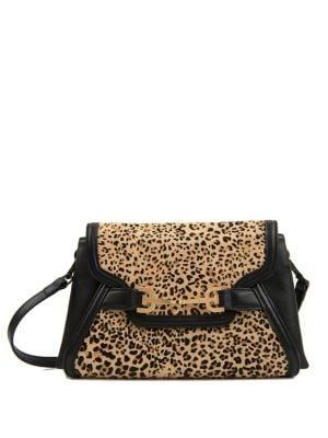 Makena Leopard Print Calf Hair Convertible Clutch 500088666210