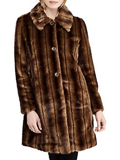 ff3ebcac1 QUICK VIEW. Lauren Ralph Lauren. Long-Sleeve Faux Fur Coat