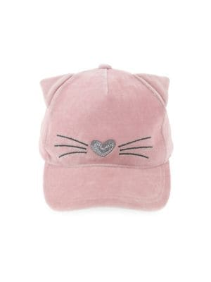 Girl's Kitty Velvet Baseball...