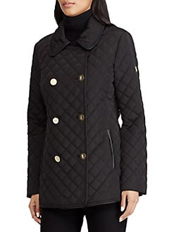 675001ece QUICK VIEW. Lauren Ralph Lauren. Quilted Faux Fur Double-Breasted Coat