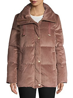 80c6f371fe81 QUICK VIEW. Cole Haan Signature. Quilted Velvet Puffer Jacket