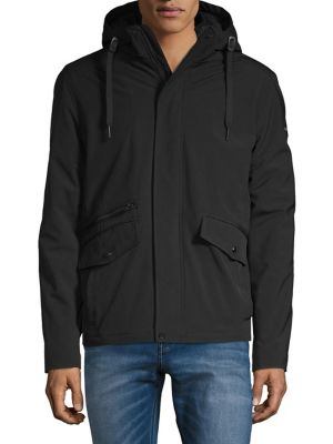 Sherpa-Lined Hooded Jacket...