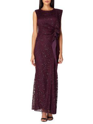 Sequin Lace A-Line Gown...