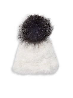 b2f6211c2f5 Product image. QUICK VIEW. Surell. Rabbit Fur and Fox Fur Pom Hat