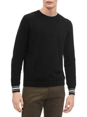 Tipped Long-Sleeve Sweater...