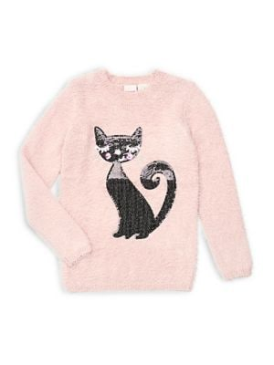 Girl's Cat Sweater @...
