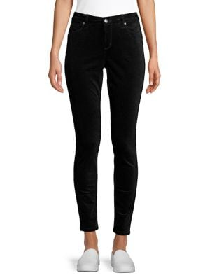 Madison Skinny-Fit Velvet...