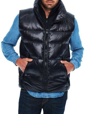 Edge Quilted Vest @...
