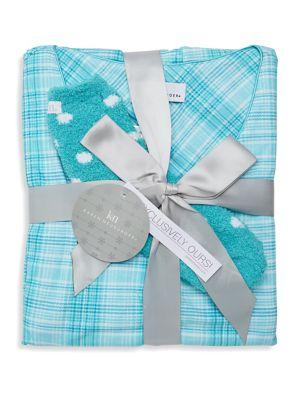 Three-Piece Plaid Pajama...