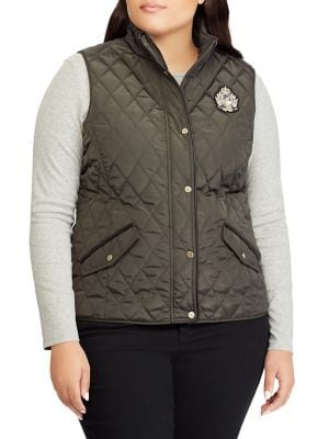 Plus Vented Quilted Vest...