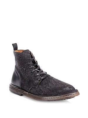 John Varvatos - Brooklyn Leather Lace-Up Boots