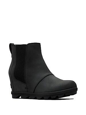 b2177f87e077 Sorel - Joan II Waterproof Leather Wedge Chelsea Boots - lordandtaylor.com