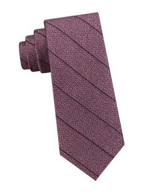 Stripe Silk Tie @...