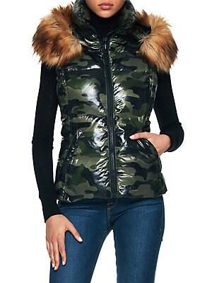 e55756c2e76d1 S13 - Camouflage Snowcat Faux Fur-Trimmed Down Vest - lordandtaylor.com