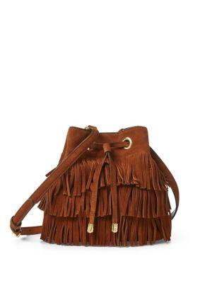 Suede Mini Drawstring Crossbody Bag 500088683474