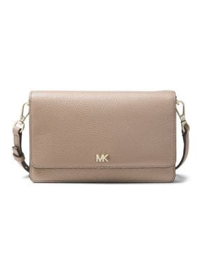 Textured Leather Crossbody Bag 500088684164