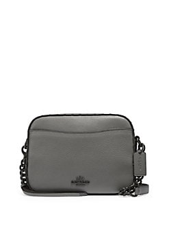 Quick View Coach Riveted Leather Camera Bag