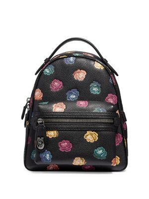 Pebble Leather Floral-Print...
