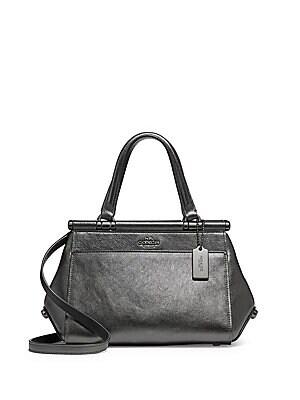 38382e4ca872 COACH - Grace 20 Metallic Leather Bag - lordandtaylor.com