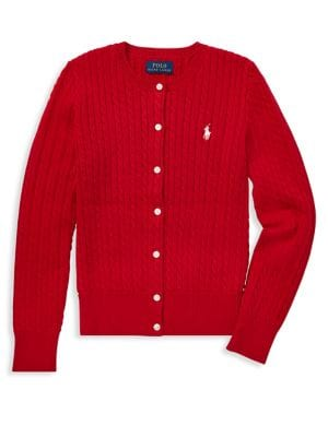 Girl's Cable-Knit Cardigan...