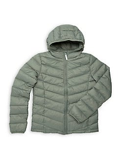 4b297bf1a Boy's Quilted Down Puffer Jacket BLACK CAMO. QUICK VIEW. Product image