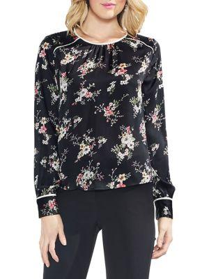 2fec1073d45c Vince Camuto - Estate Jewels Floral Long-Sleeve Blouse