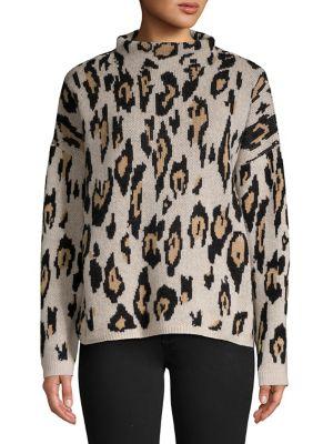 Leopard Cashmere Sweater...