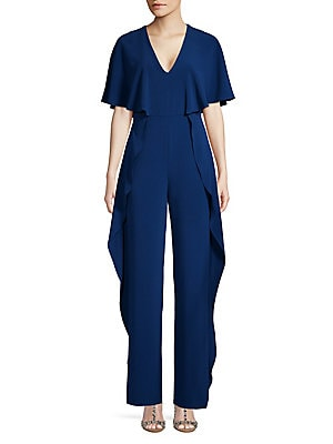 a893897363bb H Halston - Ruffled-Side Jumpsuit
