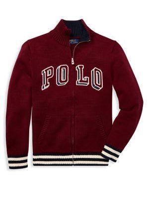 Boy's Logo Zip Sweater...