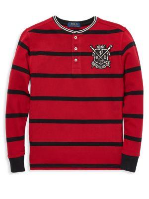 Boy's Striped Cotton...