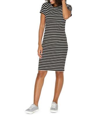 Striped Short-Sleeve...