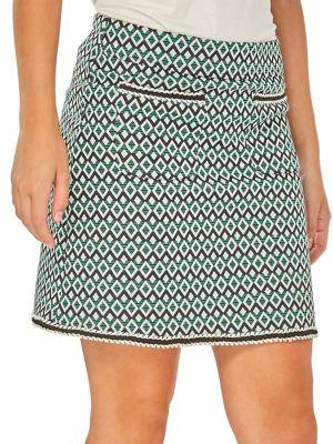 Geometric Mini Skirt...