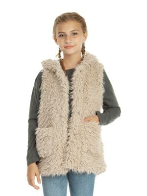Girl's Faux Fur Vest...