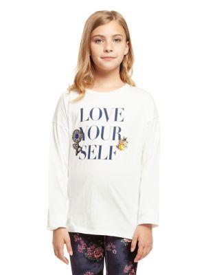Girl's Love Graphic Cotton...